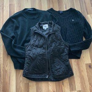 Ralph Lauren Black Sweater Vest Winter Bundle